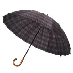Зонт-трость Big Boss (цвет: серый в клетку)