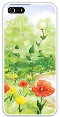 Чехол-накладка для iphone 5/5S, поляна цветов