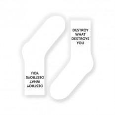 Носки Destroy or die (цвет — белый)