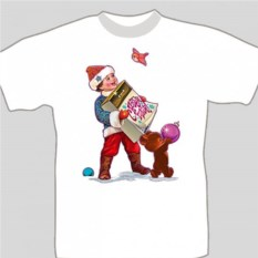 Подарочная футболка «Мальчик с подарком»