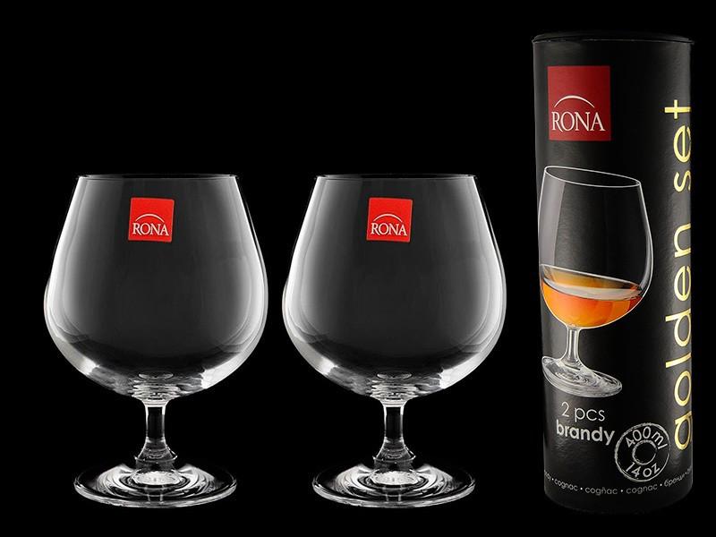 Набор бокалов для бренди в тубусе Golden Set