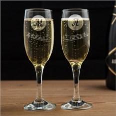 Бокалы для шампанского Музыкальная пара