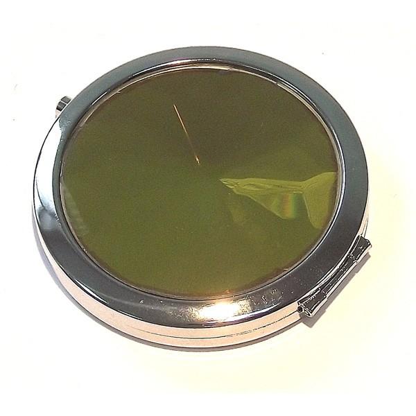 Зеркало круглое, желтый янтарь
