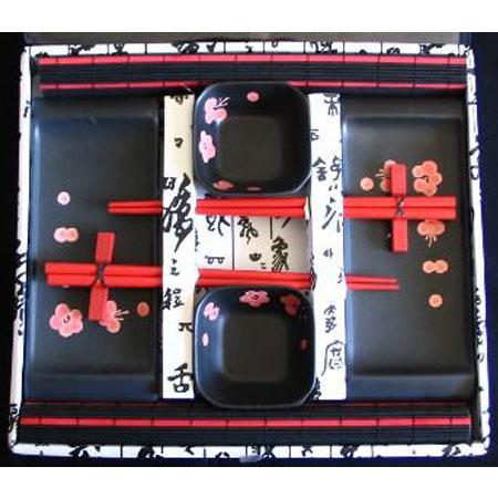 Набор для суши «Сакура на черном»
