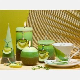 Свеча шар Зелёный чай