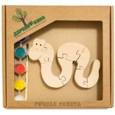 Развивающая игрушка Змейка с красками