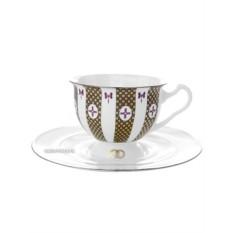 Чайная чашка с блюдцем, форма Айседора, рисунок Навсегда вместе № 1