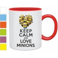 Кружка Keep calm and love minions