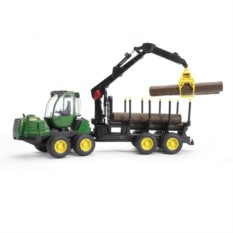 Игрушка Трактор с прицепом, манипулятором и брёвнами