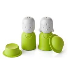 Зеленая солонка и перечница Mr.Pepper & Mrs. Salt