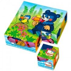Деревянные кубики Медвежонок