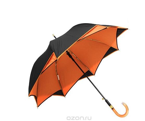 Черно-оранжевый зонт-трость Etoille