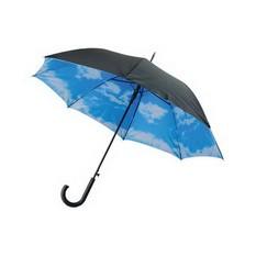 Зонт-трость с двухслойным куполом «Небо с облаками»