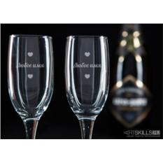 Бокалы для шампанского Влюблённая пара