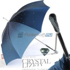 Женский зонт-трость Pasotti Swarovski Blu Style