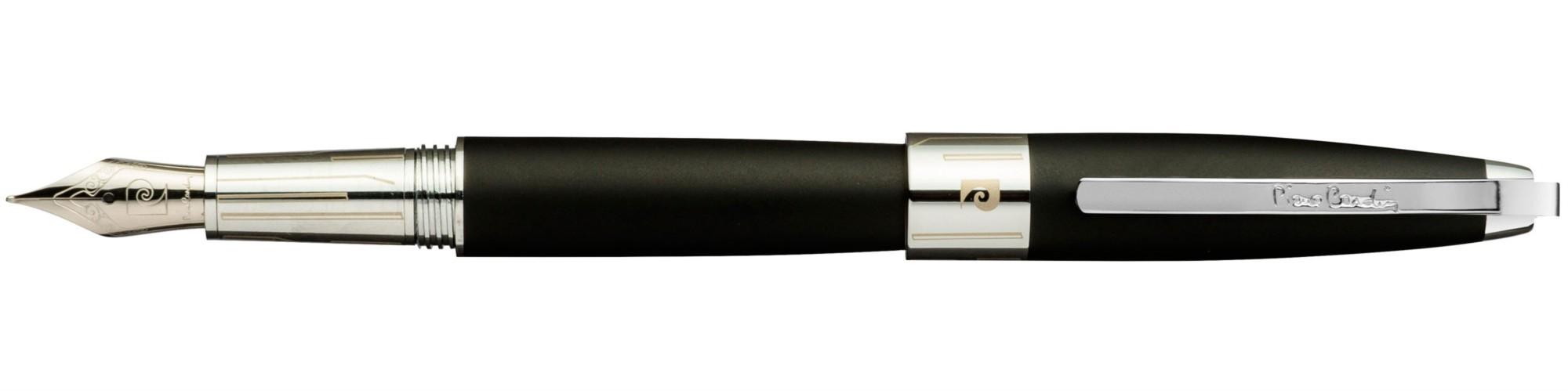 Черная матовая перьевая ручка Pierre Cardin Roi