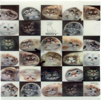 Папка-уголок «Кошки в клетках»