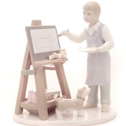 Статуэтка «Урок рисования»