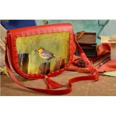Женская сумка-седло Птичка певчая