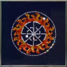 Картина с кристаллами Сваровски Оберег - Свитовит