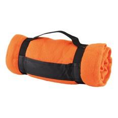Флисовый плед, оранжевый