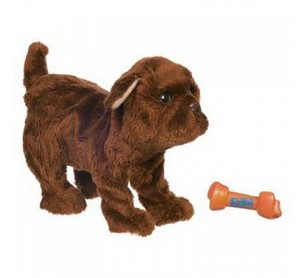 Электронная игрушка Коричневый новорожденный щенок