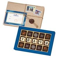 Шоколадная телеграмма «Удачи!»