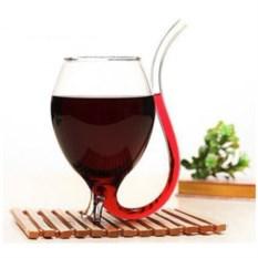 Винный бокал с трубочкой «Хвостик»