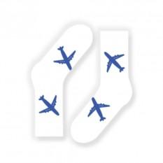 Носки от FlyByGauser Голубые самолеты на белом