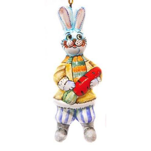 Елочная игрушка Зайчишка *