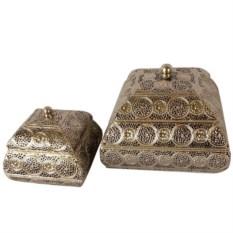 Набор из двух резных ларцов из металла