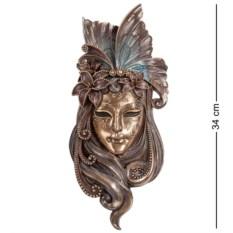 Венецианская маска Лилия (цвет — бронзовый)