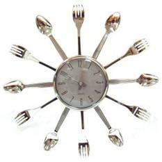 Часы настенные Ложки и вилки, кварцевые