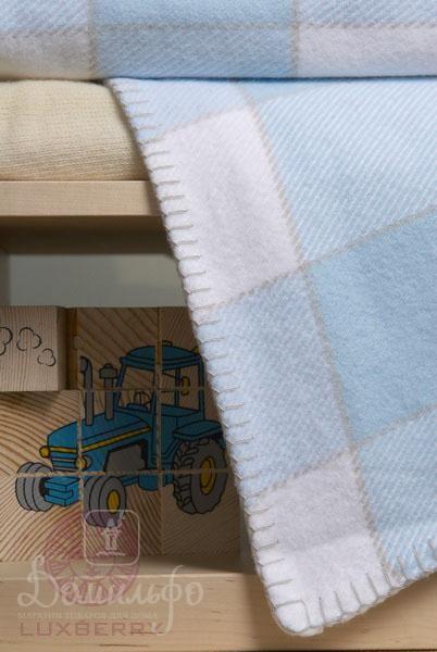 Плед детский Vanessa голубой 100х150
