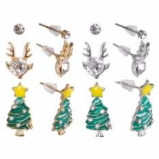 Набор новогодних сережек-гвоздиков
