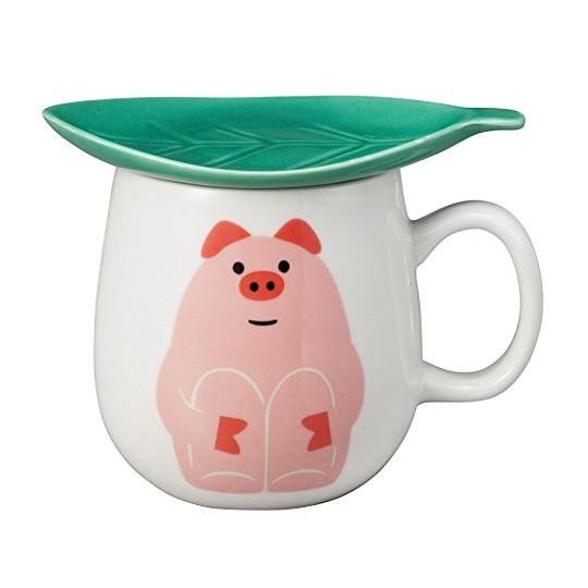 Кружка с крышкой Piggy
