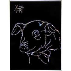 Картина Swarovski Символ года Свинья
