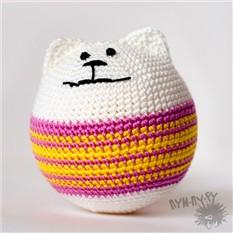 Игрушка-круглый кот Кошарик Снежок