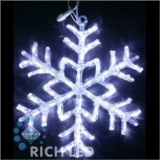 Акриловая светодиодная снежинка белого цвета (40 см)