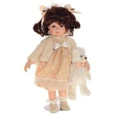 Фарфоровая кукла Милена с мишкой