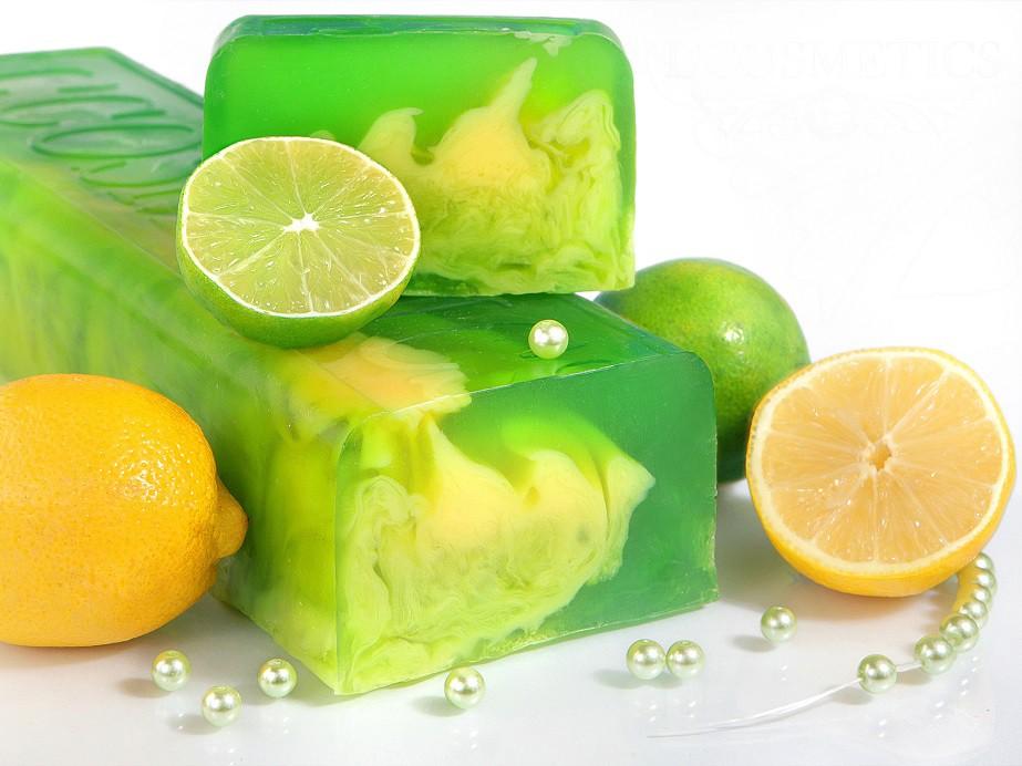 Мыло ручной работы Лимон и Лайм