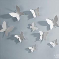 Декор для стен Mariposa 9 элементов белый