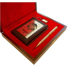 Подарочный набор Обложки на документы, ручка и флешка