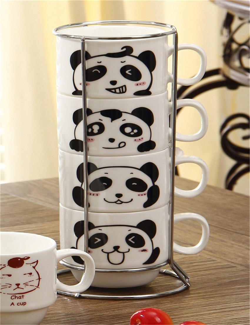 Набор кружек на подставке Panda