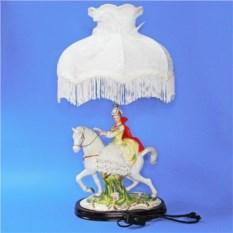 Лампа с фарфоровой статуэткой Девушка на коне