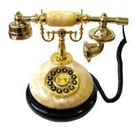 Телефон-ретро желтого цвета