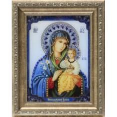 Икона Божией Матери Swarovski Неувядаемый цвет