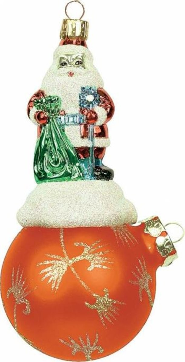 Новогоднее украшение Дед Мороз на шаре