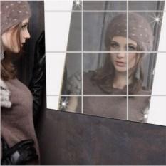 Декоративное зеркало Квадрат (набор из 16 штук)