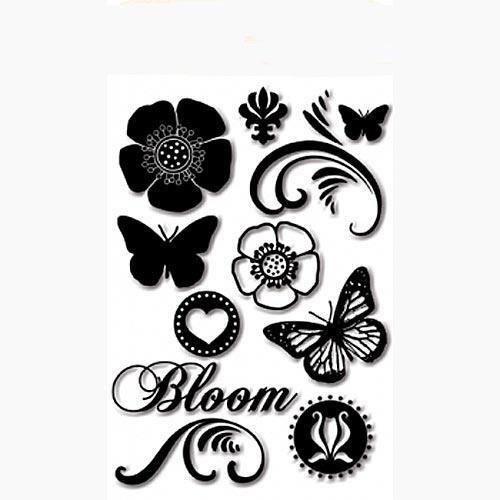 Набор силиконовых штампов серия Spring Fling